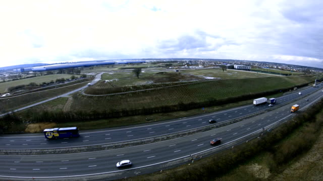 m1 motorway in uk - van stock videos & royalty-free footage