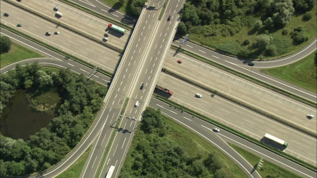 AERIAL ZO Motorway junction, Frankfurt am Main, Hesse, Germany