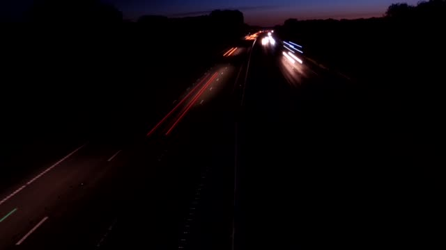 motorway timelapse - tail light stock videos & royalty-free footage