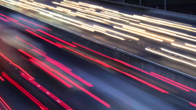 m25 motorway traffic - road marking stock videos & royalty-free footage