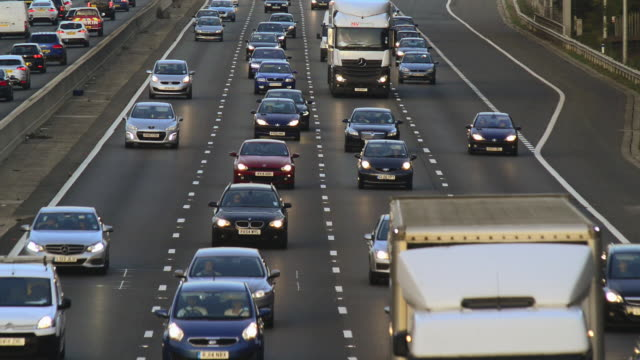 m25 motorway traffic. - m25 video stock e b–roll