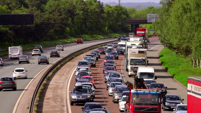 m6 motorway traffic - motorway stock videos & royalty-free footage