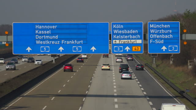 Motoway A5 near Frankfurter Kreuz, Frankfurt am Main, Hesse, Germany