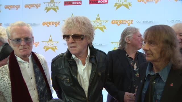 interview mott the hoople on their new tour at classic rock awards 2013 at the roundhouse on november 14 2013 in london england - popular music tour stock videos and b-roll footage