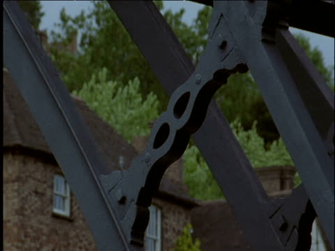 moulded cross brace on coalbrookdale bridge - industrial revolution stock videos & royalty-free footage