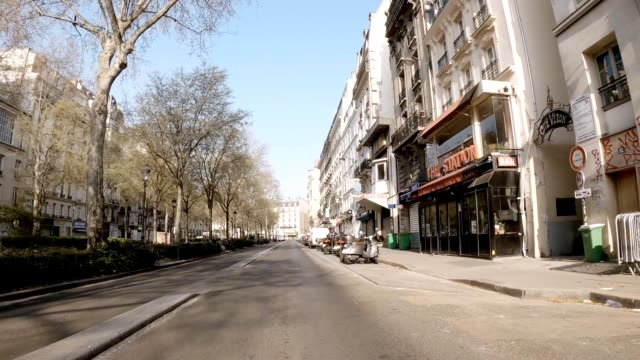 moulin rouge pigalle empty street during lockdown - boulevard stock videos & royalty-free footage