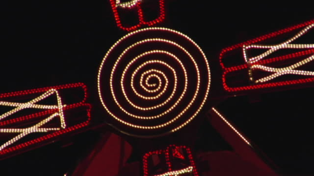 cu zo ms moulin rouge windmill illuminated at night, paris, france - cabaret stock videos & royalty-free footage