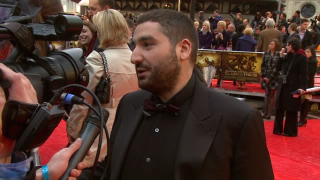 mouloud achour at the the clash of the titans at london england - clash of the titans stock videos & royalty-free footage