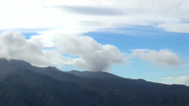 mount aso erupted in a towering plume of smoke and ash of around 11000 meters on october 8 japan sparking fears that big rocks could land more than 1... - erupting stock videos & royalty-free footage