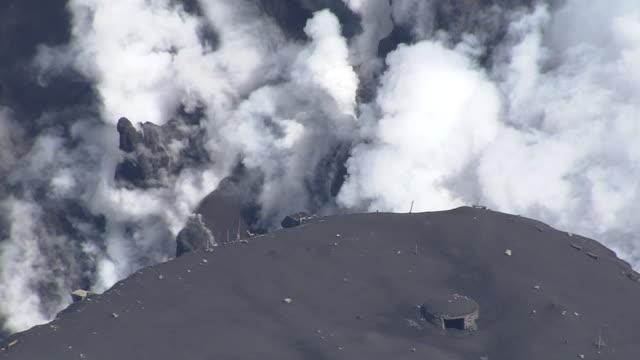 aerial, mount aso, kumamoto, japan - 事故・災害点の映像素材/bロール