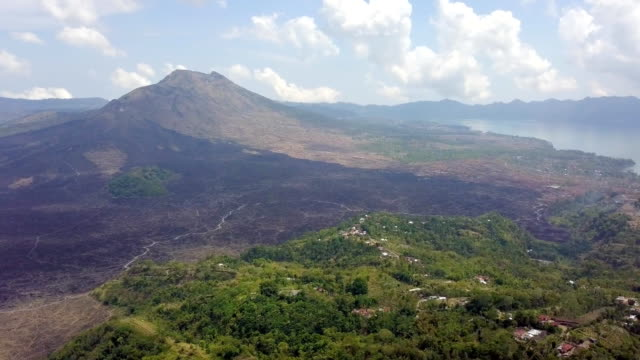 Mount Batur Crater and Lake Bali Aerial View