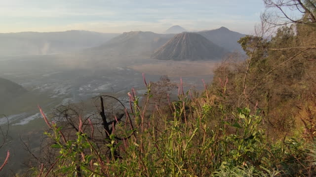 mount bromo, a spectacular indonesia mountain. - mount bromo stock videos & royalty-free footage