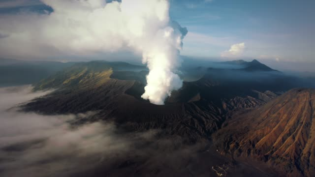 mount bromo volcano closeup - lava stock-videos und b-roll-filmmaterial