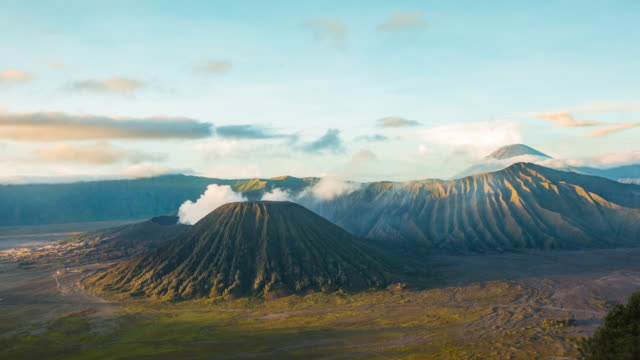 Mount Bromo volcano during sun rise, East Java, Indonesia.