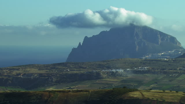 Mount Cofano On Coast Of Sicily, Italy
