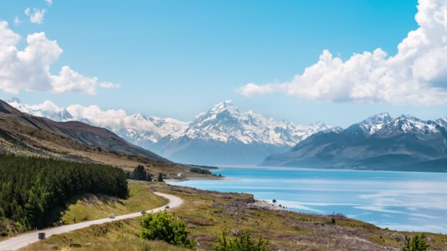 mount cook at peter's lookout - clean stock videos & royalty-free footage