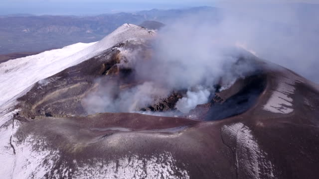 mount etna summit crater - volcanic crater stock videos & royalty-free footage