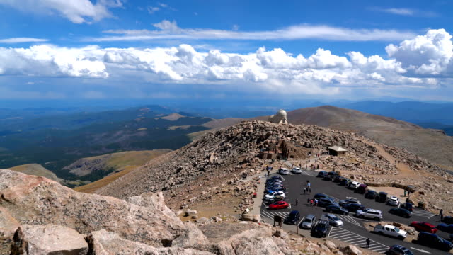 mount evans summit and observatory high paved road in america rocky mountain high point - {{ contactusnotification.cta }} stock videos & royalty-free footage