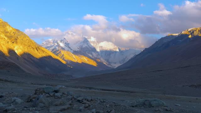 Mount Everest HD timelapse video. Tibet. China