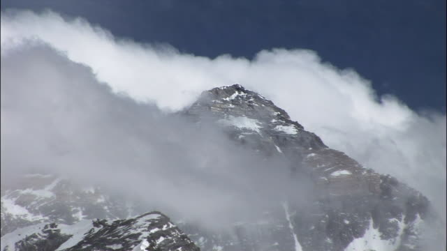 ms, mount everest, himalayas, nepal - snowcapped mountain stock videos and b-roll footage