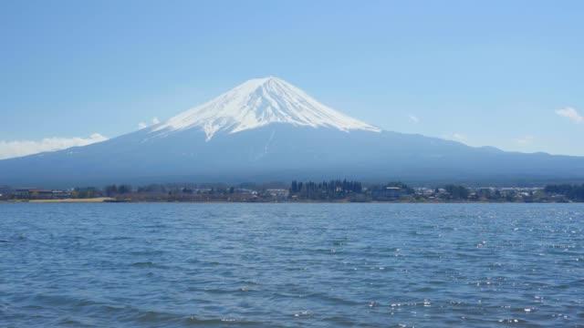 富士山と河口湖 - 山梨県点の映像素材/bロール