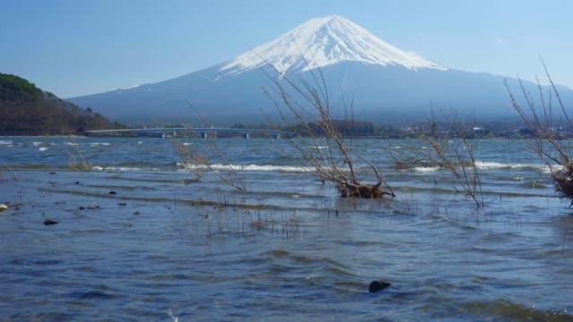 vídeos de stock, filmes e b-roll de monte fuji e lago kawaguchiko - outono