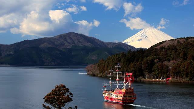 Mount Fuji and Lake Ashi, Hakone National Park, Japan.