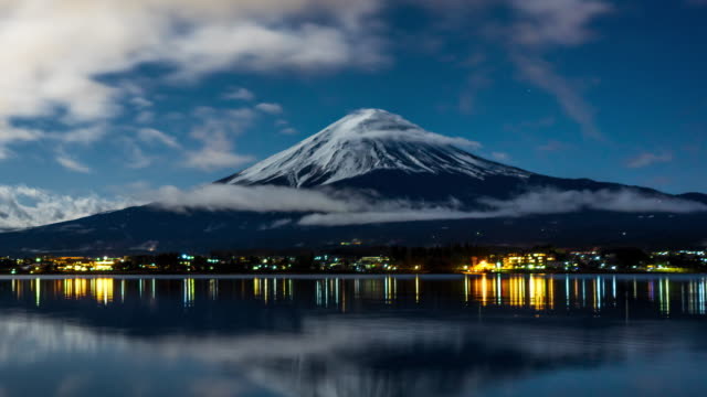 Mount Fuji at Night