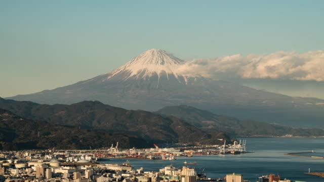 mount fuji from shizuoka prefecture - shizuoka prefecture stock videos and b-roll footage