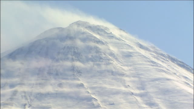 mount fuji - snow storm stock videos and b-roll footage