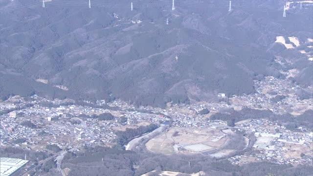 aerial, mount hiwada, saitama, japan - shinto shrine stock videos & royalty-free footage