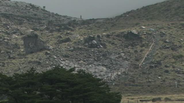 stockvideo's en b-roll-footage met mount io, miyazaki, japan - active volcano