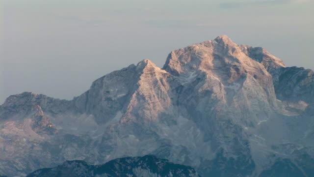 ms, mount jalovec in morning light, triglav national park, gorenjska, slovenia - triglav national park stock videos and b-roll footage