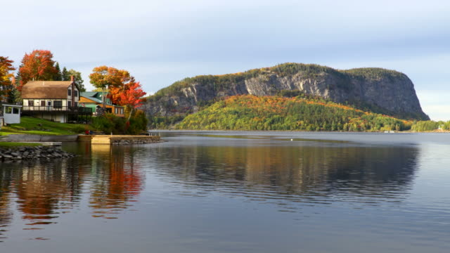 mount kineo on moosehead lake - autumn stock videos & royalty-free footage