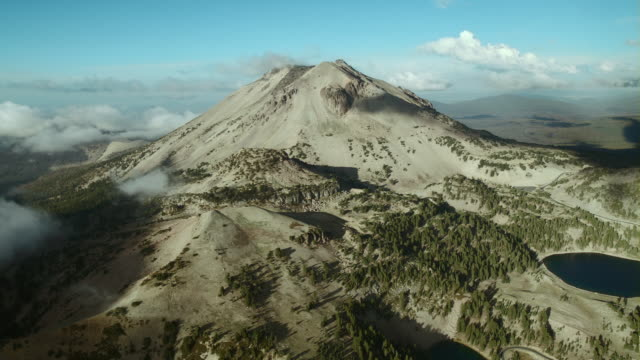 Mount Lassen, a plug dome volcano and the dominant feature of Lassen Volcanic National Park.