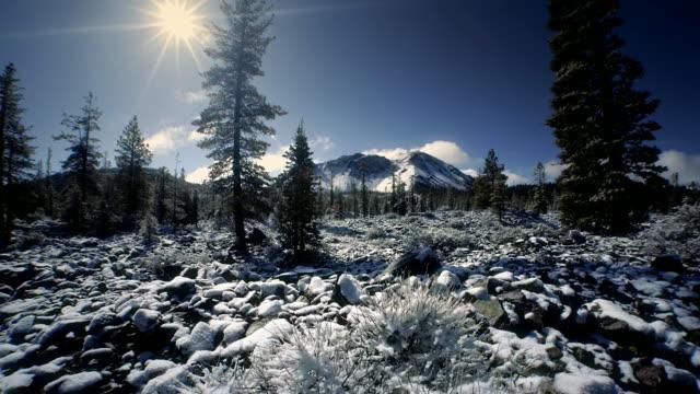 Mount Lassen National Park in winter