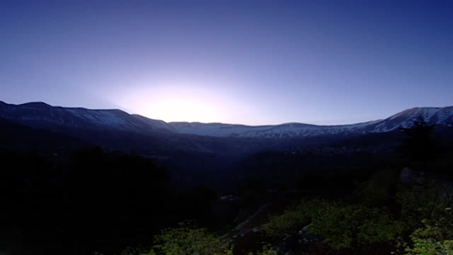mount lebanon time lapsetime laps from the qadisha valley of the sunrise on mount lebanon - snowcapped mountain stock videos & royalty-free footage