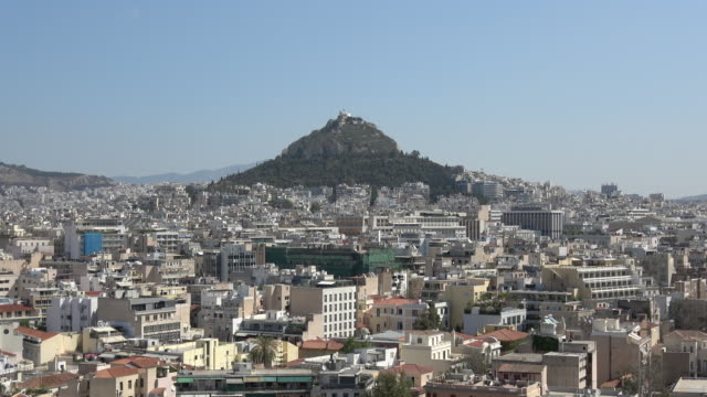mount lycabettus - lycabettus hill stock videos & royalty-free footage