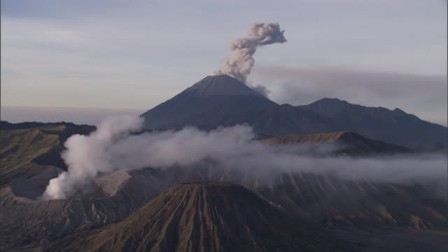 mount merapi releases smoke. - geology stock videos & royalty-free footage