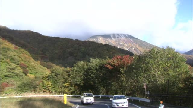 Mount Nantai With Iroha-zaka Winding Road, Japan