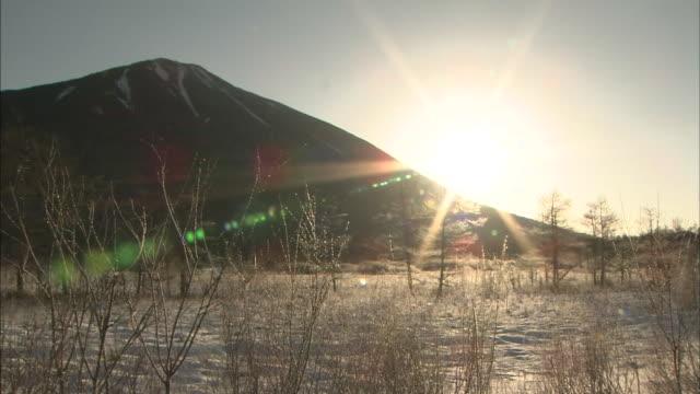 mount nantai with senjogahara marshland, japan - satoyama scenery stock videos & royalty-free footage