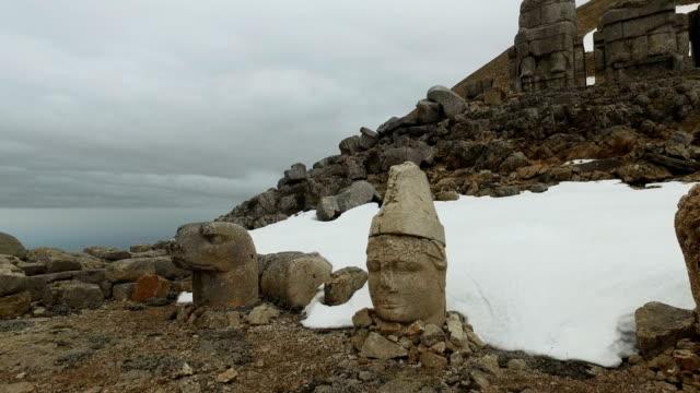mount nemrut, turkey - unesco world heritage site stock videos & royalty-free footage