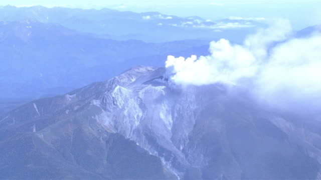 as; ha; wa; mount ontake eruption - vulkanausbruch stock-videos und b-roll-filmmaterial