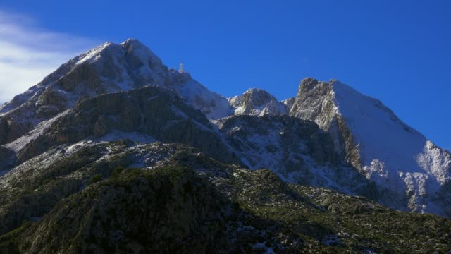 Mount Puig Major in winter, Tramuntana Mountains, Mallorca (Majorca), Balearic Islands, Spain, Mediterranean, Europe