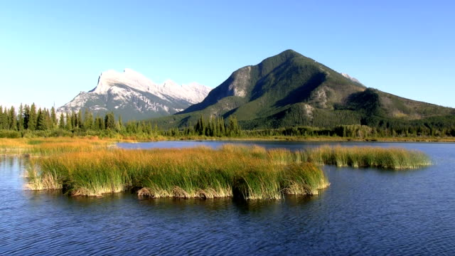 Mont rundle Parc national de banff Lac vermillion alberta