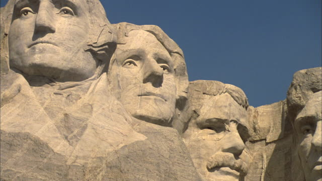 pan mount rushmore / keystone, south dakota, united states - mt rushmore national monument stock videos and b-roll footage