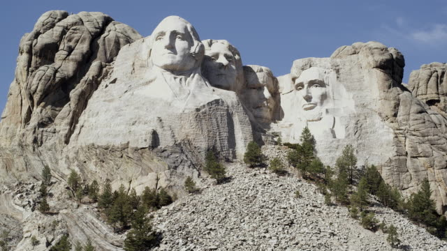 ms, mount rushmore national memorial, south dakota, usa - mt rushmore national monument stock videos and b-roll footage