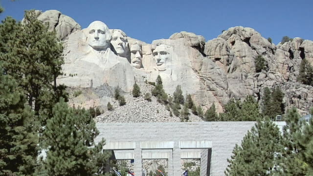 ws mount rushmore national memorial, south dakota, usa - mt rushmore national monument stock videos and b-roll footage