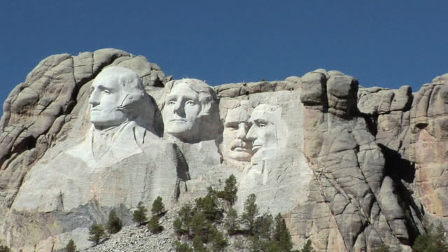 zo ws mount rushmore national memorial, south dakota, usa - mt rushmore national monument stock videos and b-roll footage