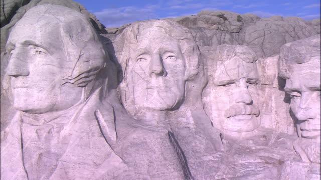 AERIAL MS PAN Mount Rushmore National Monument, Keystone, South Dakota, USA